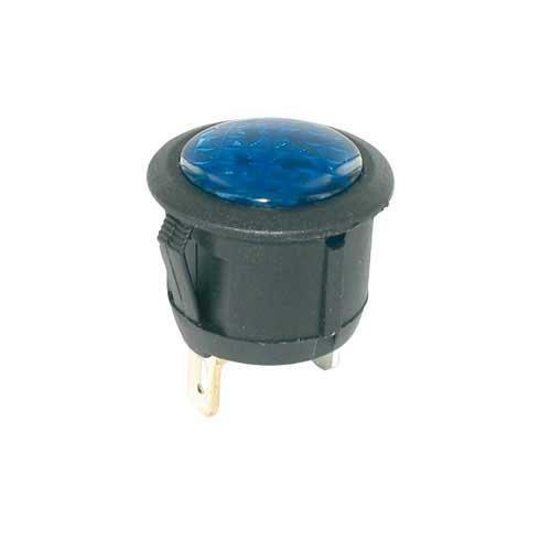 Universeel Controle lamp blauw 12 Volt