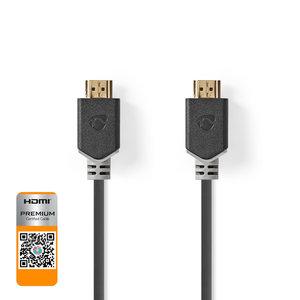 nedis 2.0 Premium High Speed HDMI™-Kabel met Ethernet | HDMI™-Connector - HDMI™-Connector | 1,00 m