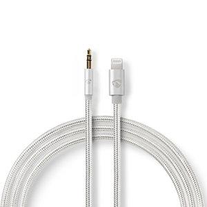 nedis Apple Lightning 8-Pins Male - 3,5 mm Male | 1,00 m | Aluminium