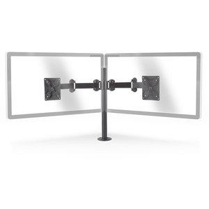 nedis Ergonomische Monitorbeugel | Dubbele Monitor-Arm | Draai- en Kantelbaar | Zwart