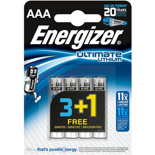 Energizer Lithium Batterij AAA 1.5 V Ultimate 4-Promotional Blister