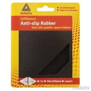 Deltafix anti-sliprubber 90 mm x 100mm zwart