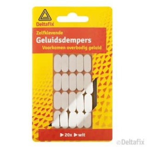 Deltafix GELUIDDEMPERS  WIT 20 ST.