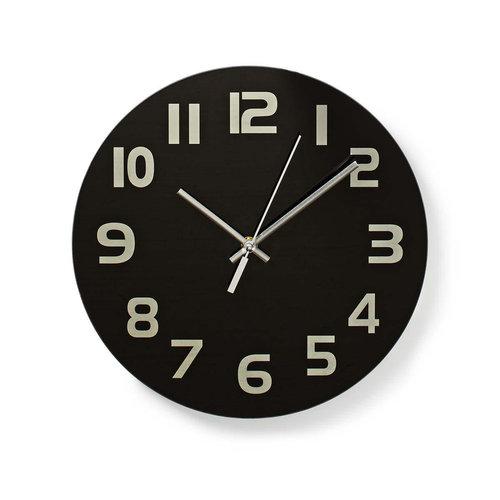 nedis Ronde wandklok | Diameter 30 cm | Eenvoudig te lezen cijfers | Zwart