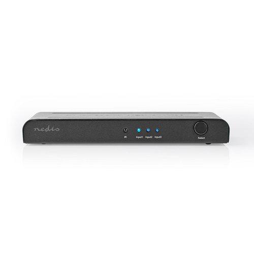 nedis HDMI™ Switch | 3-Poorts - 3x HDMI™-Ingang | 1x HDMI™-Uitgang | 4K2K@60FPS / HDCP2.2