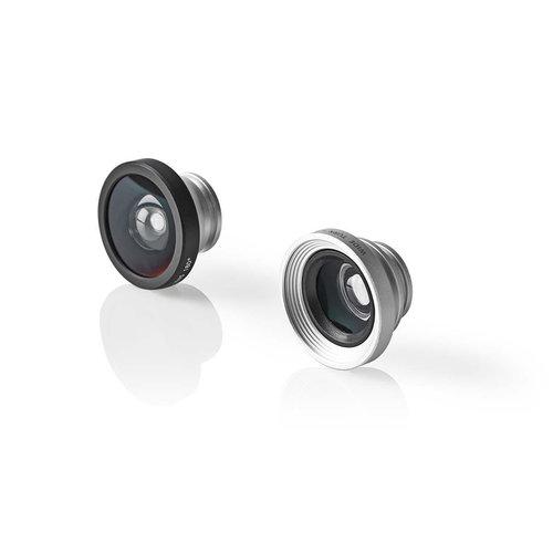 nedis Opzetlens voor smartphone-camera / 3-in-1 / Macro / groothoek & fisheye / Clip-on