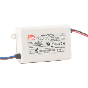 Mean Well 35W LED-DRIVER AC/DC 110/230VAC / 15-50V-0,7A