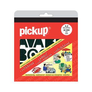 Pickup Letterboek Helvetica zwart 30 mm