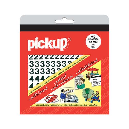 Pickup Cijferboek Helvetica zwart 10 mm