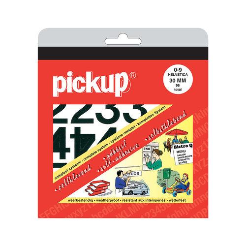 Pickup Cijferboek Helvetica zwart 30 mm