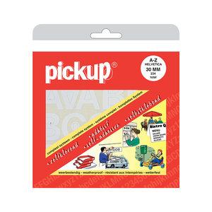 Pickup Letterboek Helvetica wit 30 mm