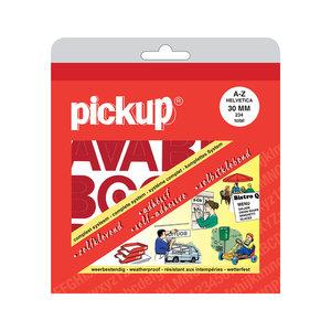 Pickup Letterboek Helvetica rood 30 mm