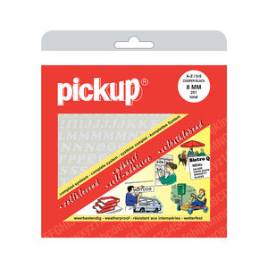 Pickup Letter/Cijferboek CooperBlack wit 8 mm