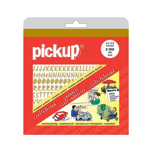 Pickup Letter/Cijferboek Vivace goud 8 mm