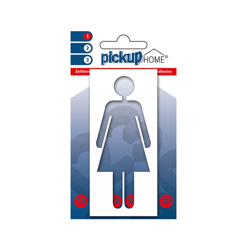 Pickup 3D Home Picto frame zelfklevend vrouw wit diapositief