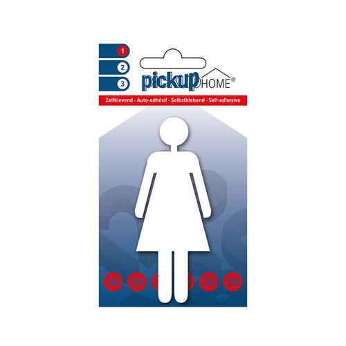 Pickup 3D Home Picto zelfklevend vrouw wit