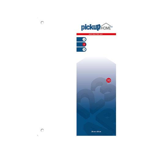 Pickup 3D Home plaat wit  acrylaat 3 mm 30 x 20 cm