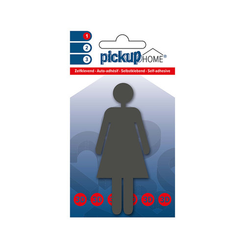 Pickup 3D Home Picto zelfklevend vrouw grijs