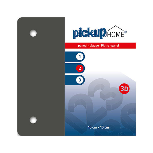 Pickup 3D Home plaat grijs acrylaat 3 mm 10 x 10 cm