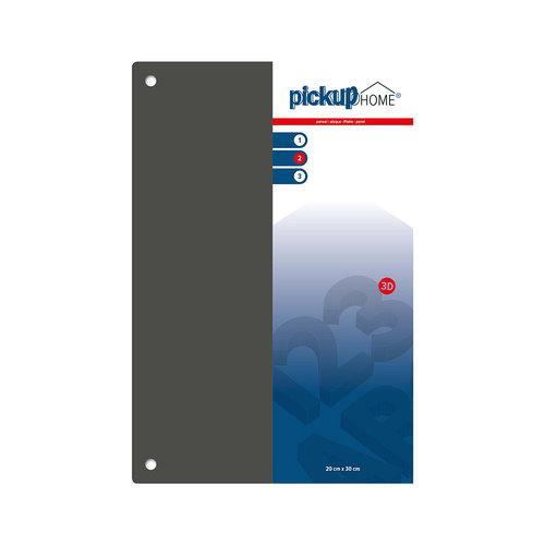 Pickup 3D Home plaat grijs acrylaat 3 mm 30 x 20 cm