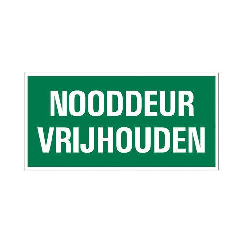 Pickup Bord 15x30cm Vluchtweg Nooddeur vrijlaten