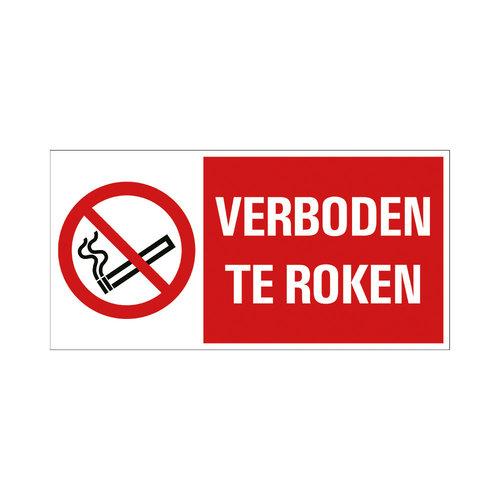 Pickup Bord 15x30cm Combinatie Verboden te roken