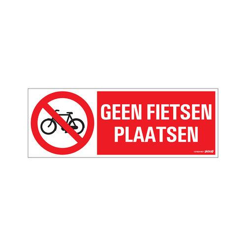 Pickup Bord 33x12cm Geen fietsen plaatsen