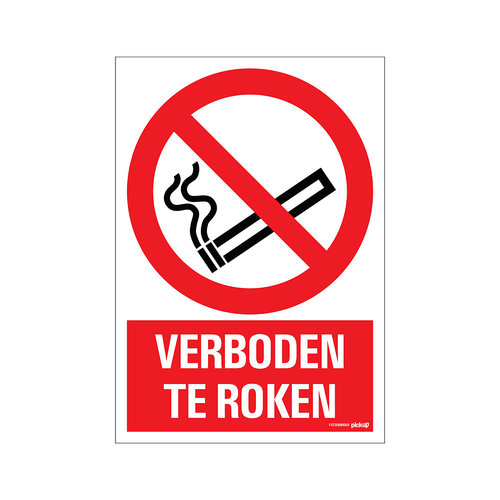 Pickup Bord 23x33cm Combinatie Verboden te roken