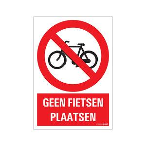 Pickup Bord 23x33cm Combinatie Geen fietsen plaatsen