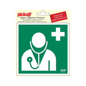 Pickup Pictogram Vinyl 15x15cm Arts-Dokter