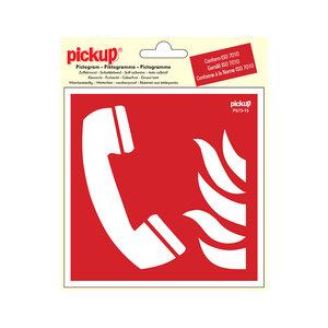 Pickup Pictogram Vinyl 15x15cm Telefoon voor brandalarm