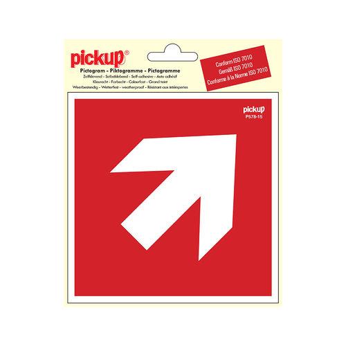 Pickup Pictogram Vinyl 15x15cm Richtingspijl 45g