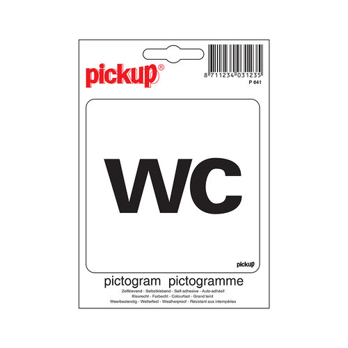 Pickup Pictogram 10x10cm WC