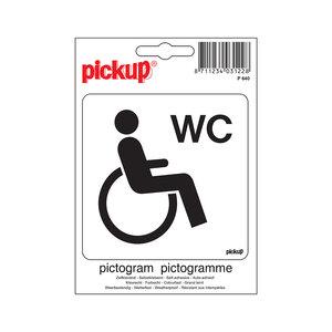 Pickup Pictogram 10x10cm Gehandicapten toilet