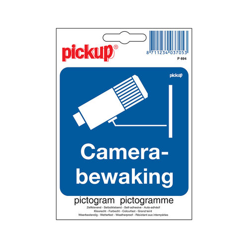 Pickup Pictogram 10x10cm Camerabewaking