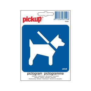 Pickup Pictogram 10x10cm Honden aan de lijn