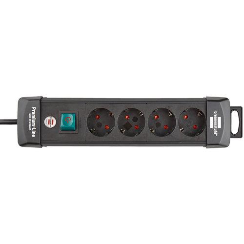 Brennenstuhl TCD Prem line 3x1,5mm2 3500W 16A Zwart 1,8M