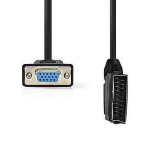 nedis SCART - VGA-Kabel / SCART Male - VGA Female / 2,0 m / Zwart