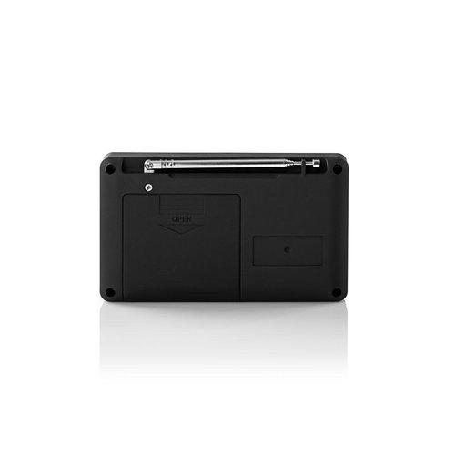 nedis FM-radio / 3,6 W / USB-poort & microSD-kaartsleuf / Zwart / blauw