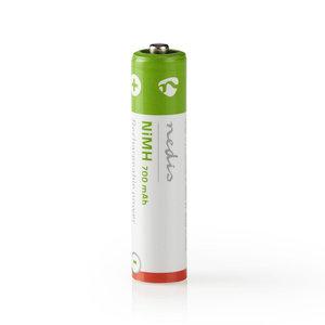 nedis Oplaadbare NiMH batterij AAA / 1,2 V / 700 mAh / 4 stuks / Blister
