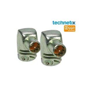 Technetix F-connector Set van 2 F-schroef stekkers, Coaxstekkers