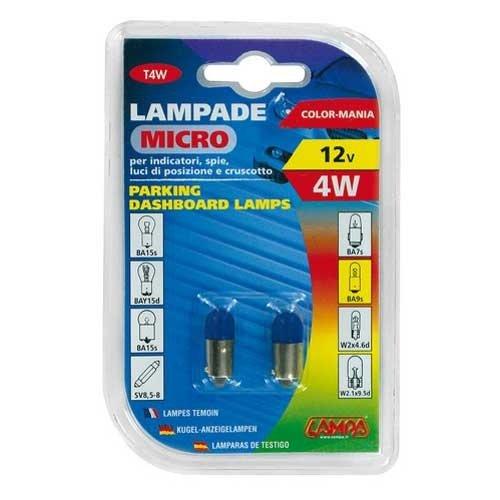 Lampa BA9s lamp 12V 4W blauw