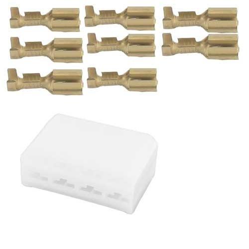 Universeel 8 polig male connector set