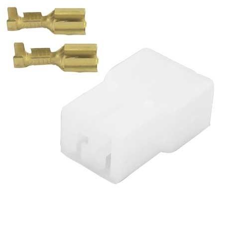 Universeel 2 polig male connector set