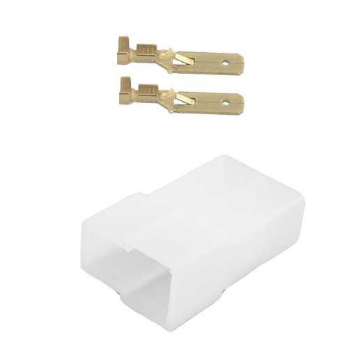 Universeel 2 polig female T stuk connector set
