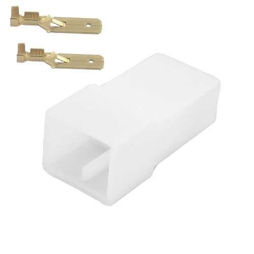 Universeel 2 polig female  connector set
