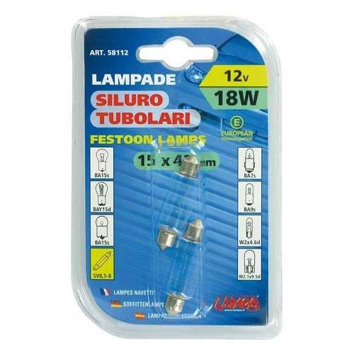 Lampa 15x41mm buis lamp 12V 18W