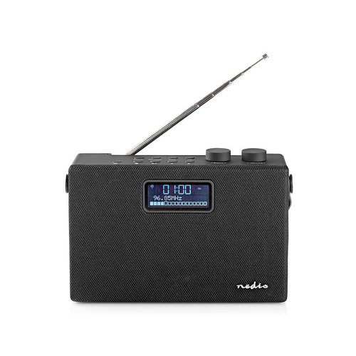 nedis Digitale DAB+ radio / 15 W / FM / Bluetooth(Rights reserved) / Zwart / zwart