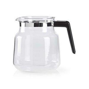 nedis Glazen koeffiekan | 1,2 L | Zwart