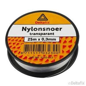 Deltafix NYLON SNOER  25 M X 0.30 TRANSP.